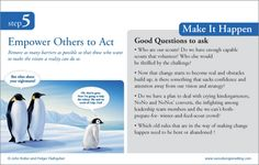 STEP FIVE-- Empower others to Act:  8 step process to leading change