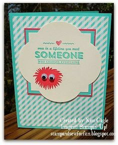 Stamp and Sew For Fun - Simple Stems Monster Cards, Stampin' Up! Someone Special