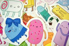 Adventure Time sticker pack candy kingdom set 4 by PKPaperKitty, $7.99