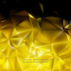 Abstract Black Gold Polygon Background