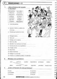 ISSUU - Vocabulario activo 1. Fichas con ejercicios fotocopiables (elemental - pre-intermedio) de Jean-François Borgniet Spanish Worksheets, Spanish Vocabulary, Spanish Activities, Spanish Language Learning, Teaching Spanish, Writing Activities, Spanish Lesson Plans, Spanish Lessons, English Lessons