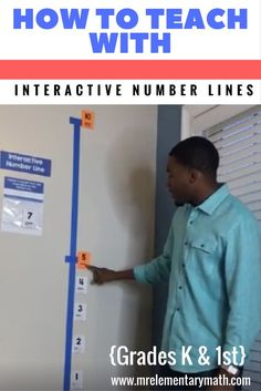 Are your Kindergarten and grade students struggling with number sense? Watch how to use the interactive number line with your students. Learn hands-on math games and activities that will keep your students engaged in learning. Kindergarten Math Activities, Teaching Math, Math Games, Maths, Teaching Ideas, Adjectives Activities, Kinesthetic Learning, Measurement Activities, Math Resources