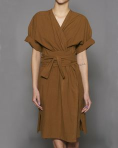 what a great Japanese inspired comfy looking dress....spotted on Mohawk General Store