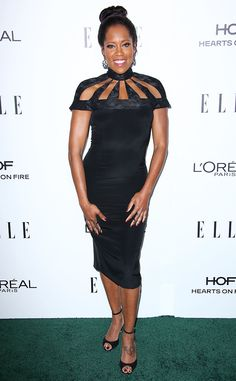 Regina King from 2016 Elle Women in Hollywood Awards  The Miss Congeniality star flashed her pearly whites in a black cut-out dress.NEXT GALLERY: 2015 Elle Women in Hollywood Awards