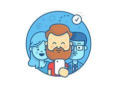 Login illustration for JIRA hipster beard ios iphone office atlassian jira team character illustration Yoga Illustration, Outline Illustration, Simple Illustration, Character Illustration, Website Illustration, Web Design, Icon Design, Flat Design, Design Web