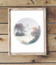 Clouds Photography Printable Modern Art by 2LittleCrownsPrints