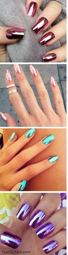 If you want to look amazing from others then you can go with metallic nail art designs for sure. As, they appear out the box yet can make other go crazy over you. These types