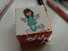 Spicchi del gusto: Personalizza una scatolina con i timbri originali Gorjuss