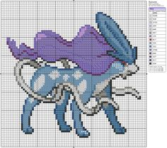 Pokemon from the Generation 2 Series. Placed in grid format to make it easier for pixel-arters to create on minecraft, in hama form, cross-stitch or other form of non-isometric pixel art. (All righ. Cross Stitch Designs, Cross Stitch Patterns, Cross Stitching, Cross Stitch Embroidery, Pokemon Cross Stitch, Pixel Art Grid, Crochet Pokemon, Pokemon Perler Beads, Bordados E Cia