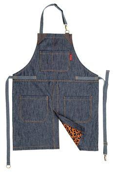 Under NY Sky Split-Leg Apron - No-Tie Apron Leather Apron, Sewing Leather, Leather Craft, Shop Apron, Work Aprons, Jean Crafts, Denim Ideas, Apron Designs, Sewing Aprons