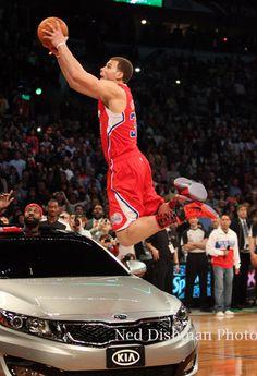 Blake Griffen slam dunks over a Kia Optima, 2011