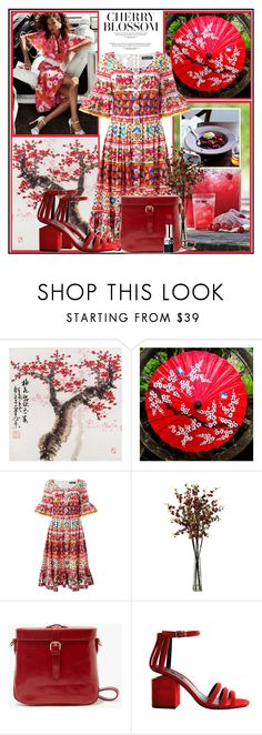 """Cherry Blossom !"" by fantasy-rose ❤ liked on Polyvore featuring NOVICA, Dolce&Gabbana, Alexander Wang and Christian Dior"
