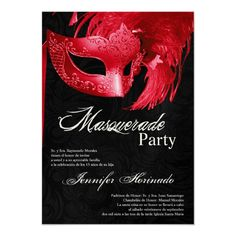 Shop Masquerade Quinceanera Birthday Invitation created by AnnLeeDesigns. Personalize it with photos & text or purchase as is!