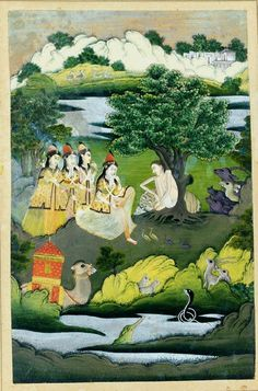 Layla and Majnun in the Wilderness, Faizabad or Lucknow, India, Circa 1770