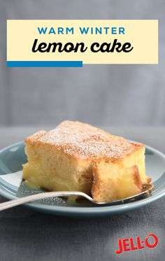 Warm Winter Lemon Cake Warm up even the chilliest of evenings. Warm Winter Lemon Cake Warm up even the chilliest of evenings with this warm dessert recipe. Thanks to a citrusy burst of flavor getting through the winter just got a whole lot easier. Lemon Desserts, Lemon Recipes, Easy Desserts, Baking Recipes, Sweet Recipes, Delicious Desserts, Lemon Cakes, Delicious Chocolate, Cake Mix Recipes