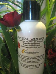 Facial Wash, Cleanse, Aloe Vera Rosewater Soapfree Wash, Makeup remover, Serum, Sensitive Skin by meadowmuffin2010 on Etsy https://www.etsy.com/listing/56841521/facial-wash-cleanse-aloe-vera-rosewater