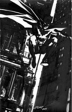 John Paul Leon pre-NYCC Batman commission