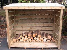 Furniture - Wooden Outdoor Firewood Storage Design Minimalist ...
