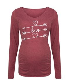 Take a look at this Wine 'Love' Maternity Long-Sleeve Tee today!