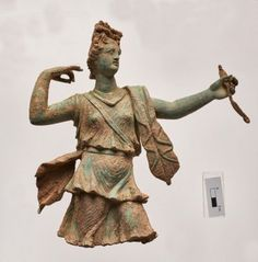 """""""Two very well preserved statuettes depicting the Greek gods Artemis and Apollo have been discovered in the ancient city of Aptera, Crete. The sculptures, which date to the first or second century AD, would have been imported to Crete and used to decorate a shrine in a luxury Roman home, the Greek Culture Ministry announced."""""""