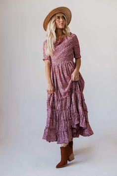 Cream Midi Dress, Boho Midi Dress, Maxi Dress With Sleeves, Cute Modest Outfits, Cute Dresses, Maxi Dresses, Short Dresses, Long Knit Cardigan, Hippie Dresses