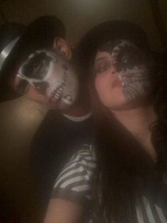 Pisto n giggs day of dead half faces halloween