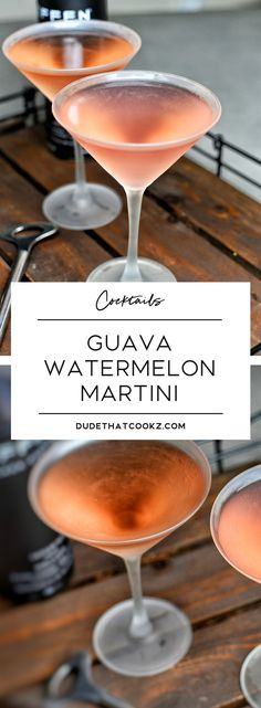 When the weekend calls for cocktails, this Guava Watermelon Martini will kick things off nicely. #cocktails #martini #cocktailrecipes via @dudethatcookz