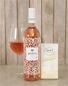 gifts: Blushing Wine and Lindt Choc Duo ! Womens Day Gift Ideas, Same Day Delivery Service, Wine, Drinks, Bottle, Gifts, Drinking, Beverages, Presents
