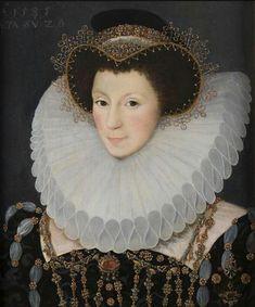 John Bettes the Younger (died 1616) English portrait painter, Portrait of  English noblewoman, 1585