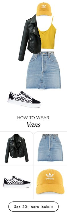 """American girl"" by perisuozgun on Polyvore featuring AGOLDE, Vans and adidas"