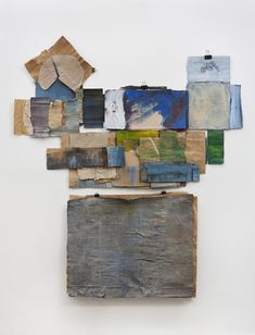 Ruth Hardinger: Artist that works with cardboard. This is cardboard and acrylic.   She does installations, printmaking and tapestries as well.  Click the link to see her work.