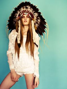 Indian, love the look (well except for the possessed looking eyes)