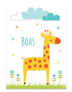 Poster met giraf