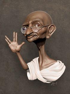Ghandi by Sinzalot