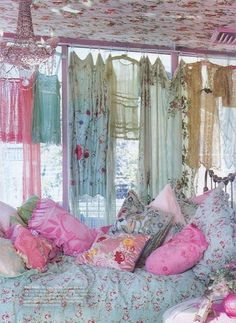 gipsy, girly and floral bedroom