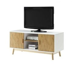 TV Console Furniture Media Entertainment Center Home Stand With Storage Cabinet #TVFurniture #Contemporary