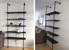 Pipe bookcase shelving unit3 DIY Bookshelf