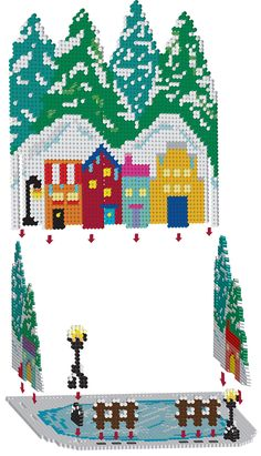 3D Cool Christmas Perler Project Pattern