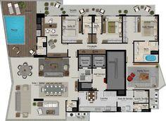 1 por andar 19 apartamentos Número de torres 1 4 suítes com 338,09 m² 4 vagas de garagem Pé direito 3,85m