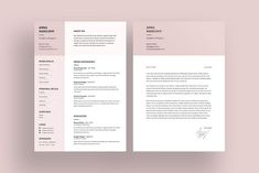 Elegant Resume Template has modern and clean design for your CV and Cover Letter to make you look professional. You can easily change background colours and Resume Design Template, Cv Template, Resume Templates, Design Templates, Letter Templates, Templates Free, Resume Tips, Resume Examples, Resume Ideas