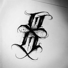 Tattoo Lettering Design, Chicano Lettering, Graffiti Lettering Fonts, Typography, Graffiti Tattoo, Graffiti Drawing, Tattoo Fonts Alphabet, Hand Lettering Alphabet, Typographie Fonts