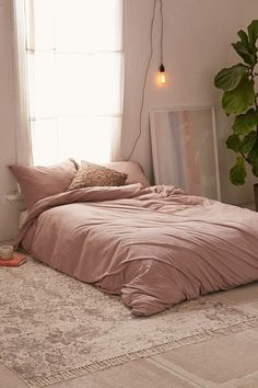Urban Outfitters Heathered Jersey Duvet Cover