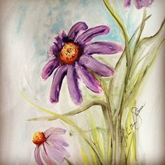 Items similar to Cone flower watercolor painting wall hanging art on Etsy Watercolor Flowers, Watercolor Paintings, Hanging Art, My Etsy Shop, Wall, Instagram Posts, Check, Watercolour Paintings, Water Colors