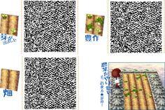 Vegetable Garden Rows - Animal Crossing New Leaf QR Codes Animal Crossing Qr, Marker, Acnl Paths, Theme Nature, Motif Acnl, Ac New Leaf, Happy Home Designer, Motifs Animal, Garden Animals