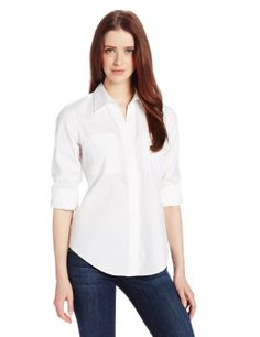 Amazon.com: Foxcroft Women's Long Sleeve Fitted Blouse