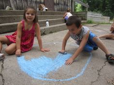 Chalk art -- possible afternoon activity which is great for all ages