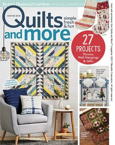 I can't believe we've come to the end of the year! It was 2015 when I submitted ideas to the editors at Quilts and More Magazine, and a little later that year when they asked me if I'd like to do a series for 2017…. 2016 was already booked (remember, this was mid 2015, and... Keep reading...
