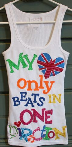 My Heart Only Beats in ONE DIRECTION Concert Tee by makmaydesigns, $32.00