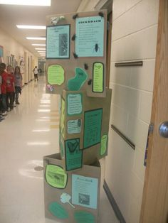 A few years ago I came up with this idea with the help of the art teacher at my school. Each classroom decides on a theme and then the students create poetry about the theme. Poems are typed (or ha… Teaching Poetry, Teaching Time, Teaching Tools, Efl Teaching, Teaching Ideas, School Displays, Classroom Displays, Classroom Organization, Classroom Ideas