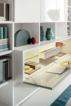 59 ideas for home office storage furniture bookcases Office Storage Furniture, Home Office Storage, Home Office Space, Home Office Design, Furniture Design, Wall Storage Systems, Hidden Storage, Muebles Living, Small Space Interior Design